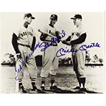 Mickey Mantle Stan Musial & Joe Dimaggio reprint 8 x10 Photo New York Yankees - Mint Condition