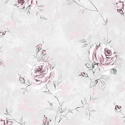 RG35716-rose garden trellis roses beige ivoire rose galerie papier peint