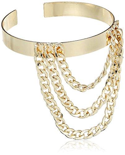 Funky Fish Strand Bracelet for Women (Golden) (I-682_N7297473315240)