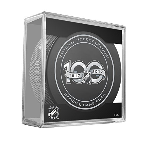 2017 NHL Shield 100th Anniversary Game Puck With - Shield Puck Hockey