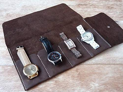 Amazon.com: Roll 2-5 watches, Leather watch roll, Travel