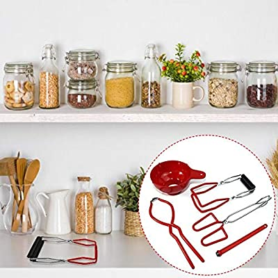 Anti-Skid and Anti-Scald for Kitchen Restaurant Wide-Mouth Regular Jars Include Canning Jar Lifter Lid Lifter Funnel Wrench Pliers 5 Pcs Canning Tool Set Kit Canning Supplies
