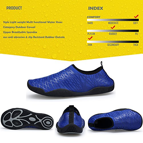 Lightweight Water Women's and Sports Men Deep Quick Blue SIKELO Dry Shoes dwBA0qd