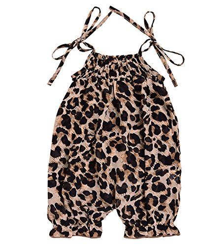 Infant Girls Leopard (AILOM Cute Newborn Infant Baby Girls Leopard Ruffle Romper Jumpsuit Summer Outfit Playsuit (Leopard, 0-3Month))