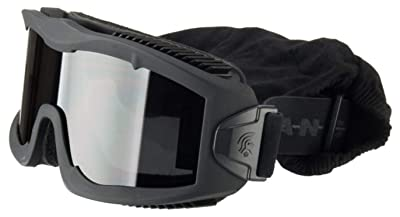 Lancer Tactical AERO 3mm Thick Dual Pane Lens Eye Protection Safety Goggle System ANSI Z87 1 Rated Industry Standard Panel Ventilated w/Anti-Scratch Shield Fully Adjustable