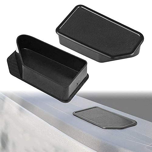 IBACP Fits for 2014-2018 GMC Sierra Chevy Silverado Truck Bed Rail Stake Pocket Covers Caps Rail Hole Plugs Odd Shaped-A Pair