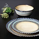 Gibson Magello 16-Piece Dinnerware Set, Cream/Blue