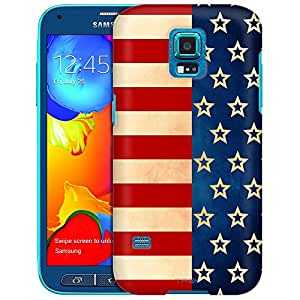 Samsung Galaxy S5 Sport Case, Slim Fit Snap On Cover by Trek Patriotic Retro Stripes and Stars Case