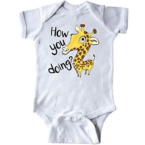 Giraffe Goofy - inktastic - How You Doing? Funny Giraffe Infant Creeper Newborn White 29a0e