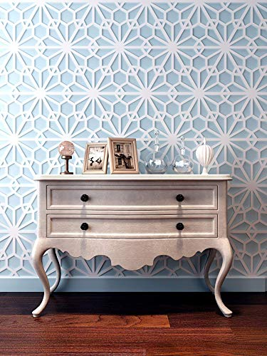 HomeArtDecor | Moroccan Decor | Decorative Wall Panels | 3D Tiles | High Quality Polyvinyl Chloride | Office Decoration | Home Decoration | Easy to Apply | Fretwork | ()