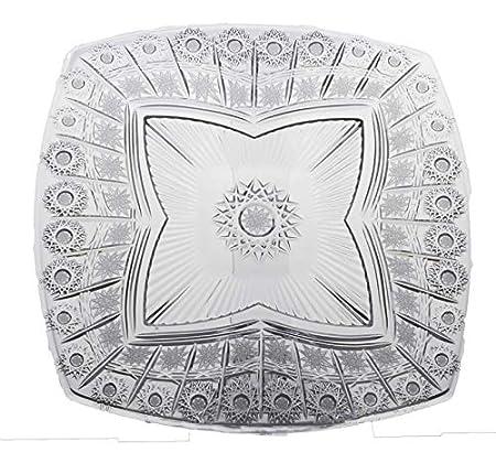 """Amazon.com: Bohemia Crystal – Placa Footed de vidrio 13"""" ..."""