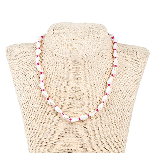 Nassa Shell Necklace with Glass Beads (Hot - Glasses Hot With Chick