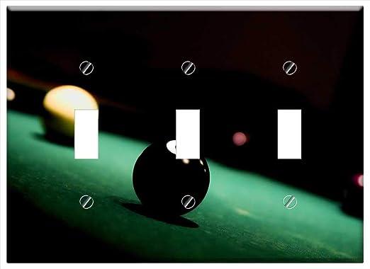 Cubierta para placa de pared – Bola 8 ocho billar billar juego de mesa deporte: Amazon.es: Bricolaje y herramientas