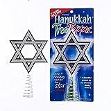 Sparkling Silver Hanukkah Star of David Holiday Tree Topper Jewish Decoration