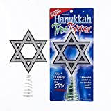Kurt Adler 6 Inch Sparkling Silver Hanukkah Plastic Tree Top