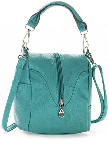 Big Handbag Shop Womens Trendy Mini Top Handle Bag (8906 Turquoise)