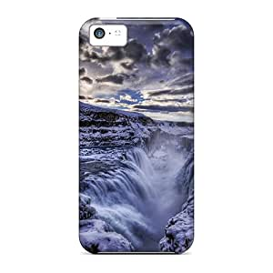 Melivera Premium Protective Hard Case For Iphone 5c- Nice Design - Waterfall Winter