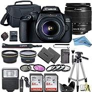 Canon EOS Rebel T100 / 4000D DSLR Camera Bundle + 2pc SanDisk Memory Cards + Accessory Kit (18-55MM + 64GB)