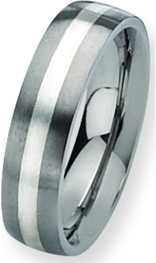 Titanium SS 6mm Satin Mens Wedding Ring Band Sz 11.5