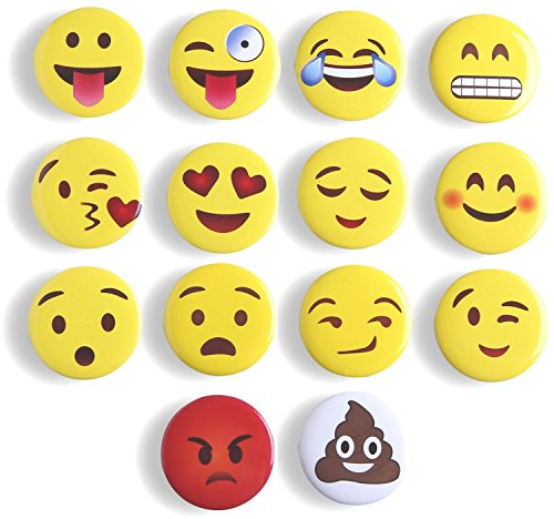 Fun Fridge Magnet (Refrigerator Magnets Fridge Magnets Emoji Magnets, Mymazn Office Magnets WhiteBoard Magnets Cute Dry Erase Board Magnetic for School Home Decorative Cute Fun Smiley Face Magnets)