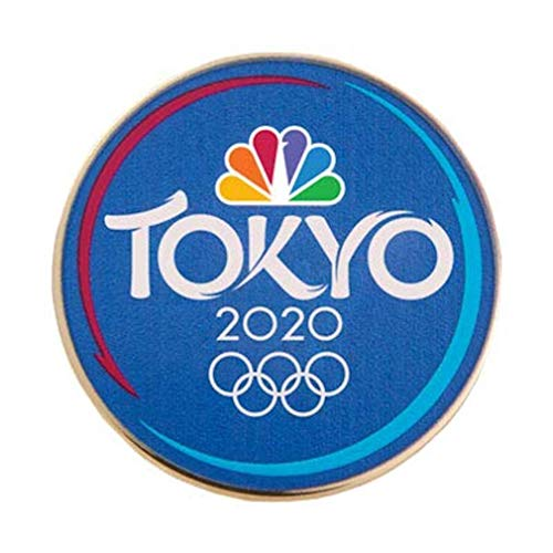 2020 Summer Olympics Tokyo Japan NBC Sports Blue Lapel - Button Olympic Pin