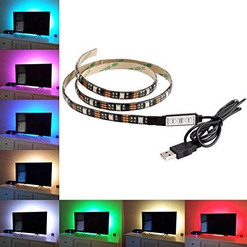 Price comparison product image MENZO LED TV Backlight Bias lighting Kit - 100CM 5V LED Strip TV Back Lighting for HDTV,  Desktop PC etc