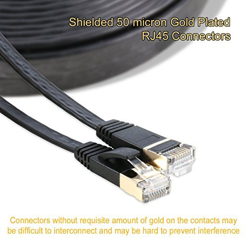 Flat Cable Shield : Cat ethernet cabe flat shielded twisted pair stp mk