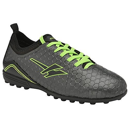 Gola Childrens Boys Apex VX Astro Turf Soccer Boots (3 US) (Dark Gray/Black)