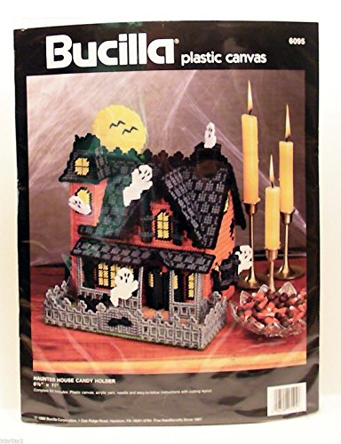 Bucilla Plastic Canvas Haunted House Candy Holder (Bucilla Candy)