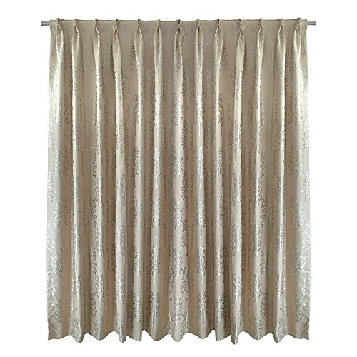 Pinch Pleated Drapery Panels (R.LANG Pinch Pleated/Back Tab Top Blackout Window Curtains for Bedroom Champagne 24