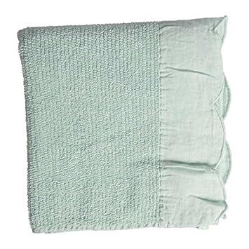 Toalla de baño Charme con volante (algodón, cenefa 55 x 90 cm) verde de agua coté mesa: Amazon.es: Hogar