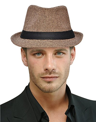 Play Brim Hat (Harcadian Trillby Hat For Men Fedora Hat)