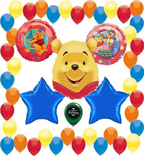 Winnie The Pooh Birthday Party Supplies Balloon Decoration - Invitations Poohs Birthday 1st