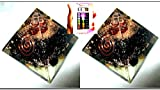 Exquisite Two (2) Black Tourmaline Orgone Pyramid Best Offer Free Booklet Jet International Crystal Therapy Crystal Gemstones Copper Metal Mix