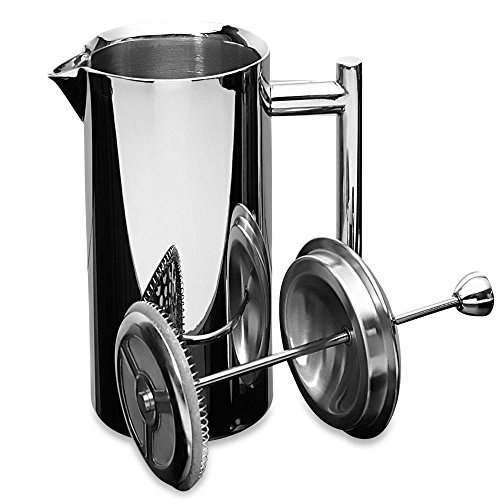 Frieling 35 oz. Insulated Polished Stainless Steel French Press - Coffee Pigs