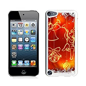 Ipod 5 Cases,Snowflake Red Jingling Bell Christmas White Hard Shell Plastic Apple Ipod Touch 5th Cases
