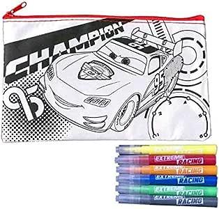 Générique – Neceser Cars Disney A para Colorear, Estuche a para Colorear con 6 rotuladores, Estuche con Mini Rotuladores: Amazon.es: Hogar