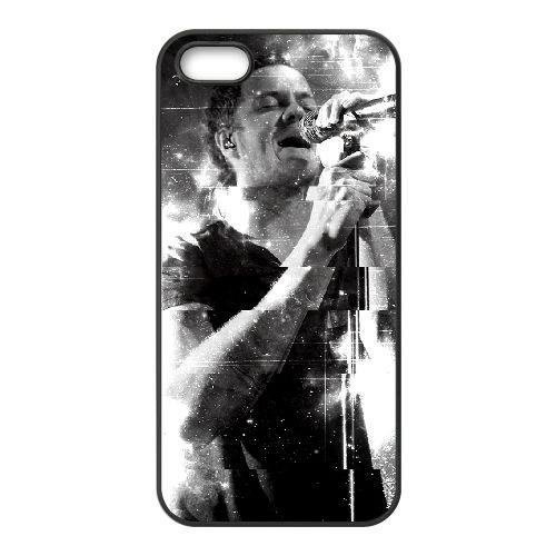 Imagine Dragons 001 coque iPhone 5 5S cellulaire cas coque de téléphone cas téléphone cellulaire noir couvercle EOKXLLNCD24529