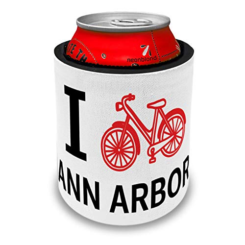 NEONBLOND I Love Cycling City Ann Arbor Slap Can Cooler Insulator Sleeve