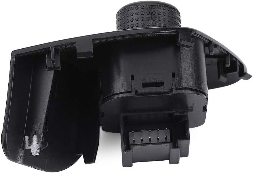Aramox Spiegelschalter Auto R/ückspiegelschalter Schalter Bedienknopf Auto Seitenspiegel Schalter Einstellknopf mit Close Function Gear f/ür Seat 6J1959565