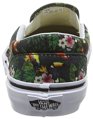 Vans - Classic Slip-on, Zapatillas Niños-Niñas, Multicolor (chambray/parrot/true White), 31.5 EU Multicolor (chambray/parrot/true White)