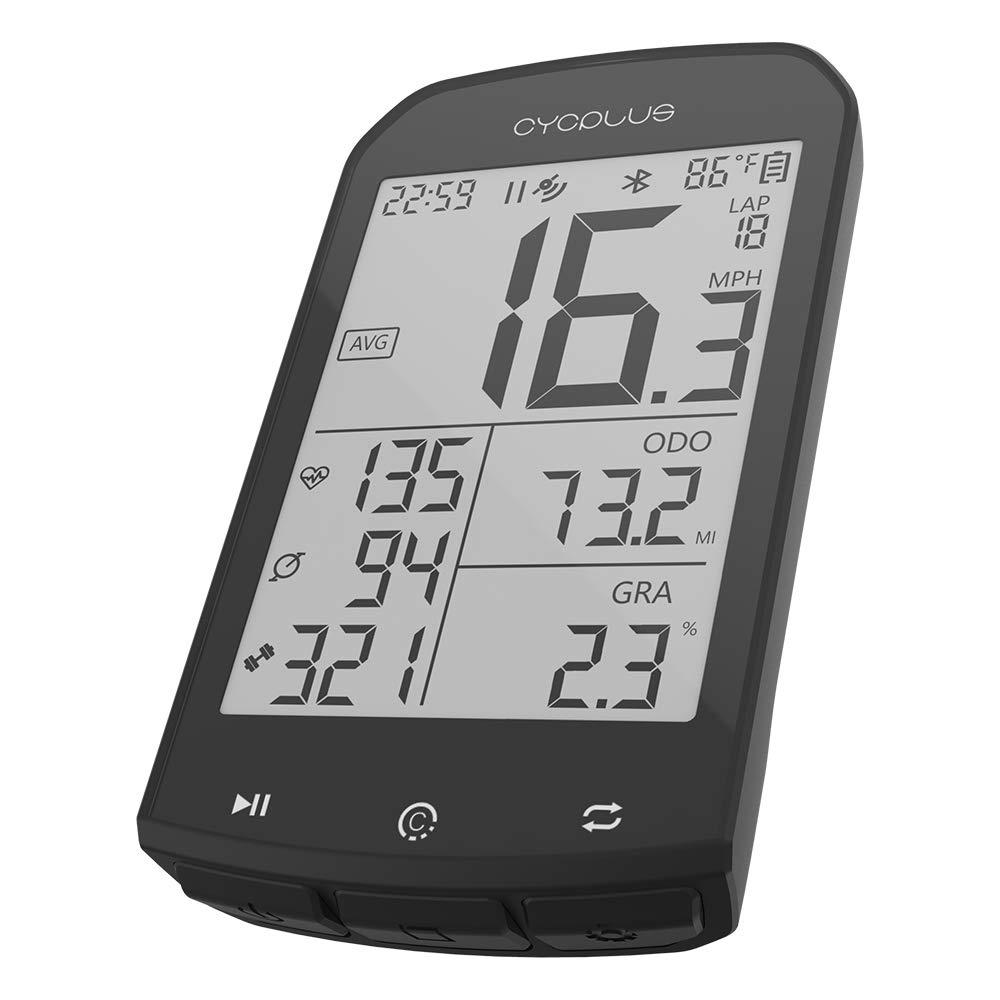 Wireless Ciclismo Bluetooth Compatibile con App Display LCD da 2,9 Pollici con retroilluminazione CYCPLUS Tachimetro e contachilometri per Bici da Bicicletta GPS Impermeabile Contachilometri Ant