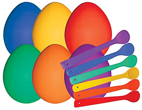 Field Day Favorite Dino Egg and Spoon Set (6 Giant Spoons and 6 Giant Eggs) -
