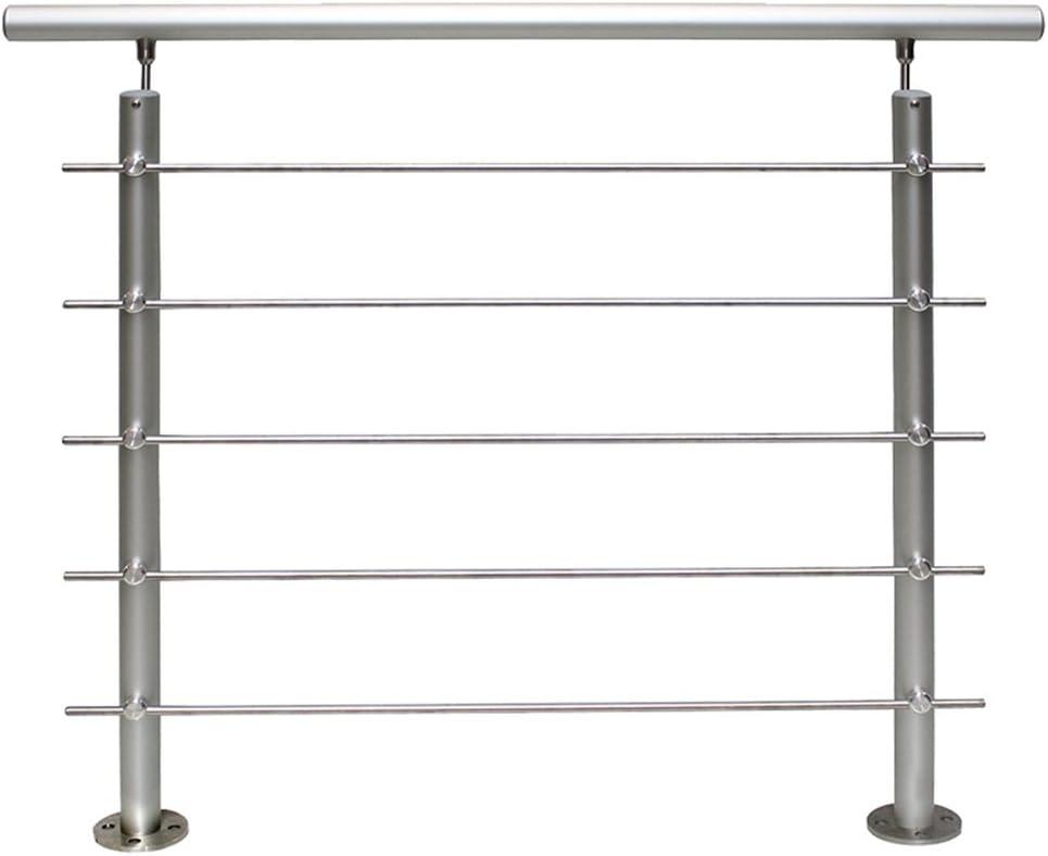 HENGMEI 150cm Escaleras Barandilla de acero inoxidable Pasamanos barandillas varillas Terraza barandilla montar Escaleras con 3 postes