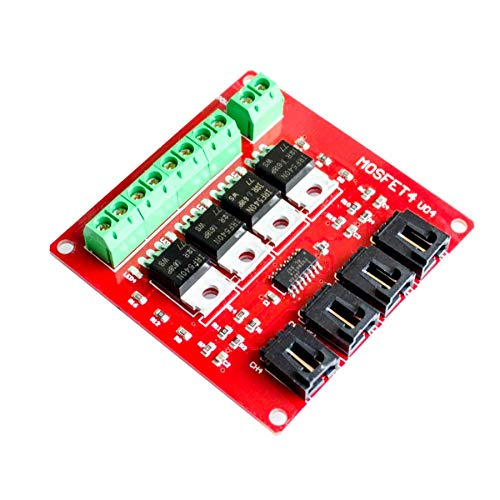 10pcs/lot Four Channel 4 Route MOSFET Button IRF540 V4.0+ MOSFET Switch Module for by PartsStorm
