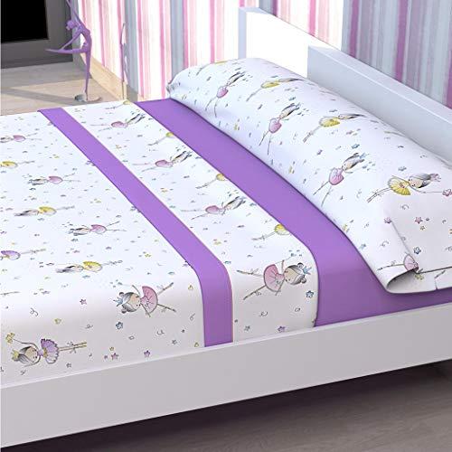 violets 90cms Tolrá Parure de lit Enfant modèle Ballarina 90cms violets