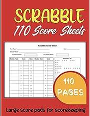 Scrabble Score Sheets: Official Scrabble Score Pad for 2-4 Players | Score Keeper Notebook Scrabble Score Cards | 110 Score Sheets