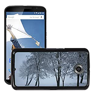 Hot Style Cell Phone PC Hard Case Cover // M00308471 Snow Landscape Winter // LG Google Nexus 6