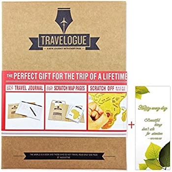 DYWISHKEY Travelogue Scratch off Map Page Travel Journal Tourist Notebook