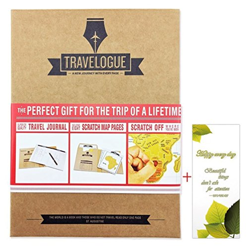 Dywishkey Travelogue Scratch Off Map Page Travel Journal